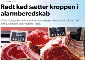 Rødt kød sætter kroppen i alarmberedskab